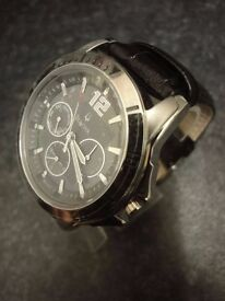 Mens Bulova Watch 96C116 NEW condition with black leather strap