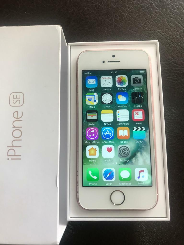iPhone 5SE - 64 GB used but in Good condition In Rose Gold colour