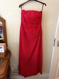 Red Full Length Monsoon Dress Size 12