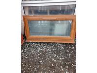 Oak Finished uPVC window