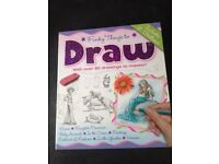Funky Things to Draw Book- with 8 sections. Excellent condition