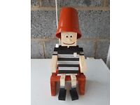Wooden Plant Pot men in Hull FC colours