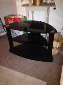 Black glass TVs stand