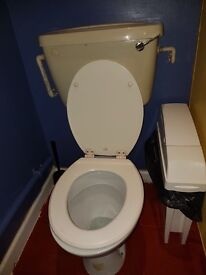 Toilets and basin units to go by Monday 27th march.