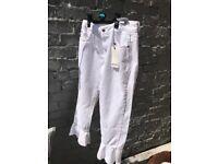 White Zara grill jeans