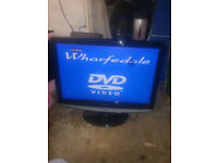 """for sale 22"""" hd lcd widescreen tv with freeview and dvd player £25"""