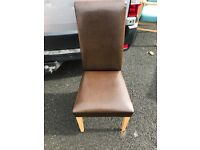 4 dining room leather chairs