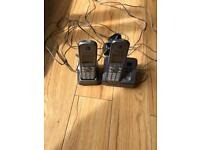 Cordless twin phone and answering machine