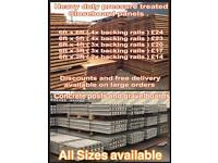 Heavy duty closeboard fence panels and concrete posts and gravel boards