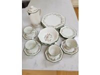 Eternal beau plates/ bowls/ cups/ saucers & coffee pot