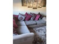 Corner settee with cuddle chair