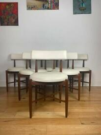 Mid Century G Plan Victor Wilkins Teak Dining Chairs Set of Six FREE LOCAL DELIVERY