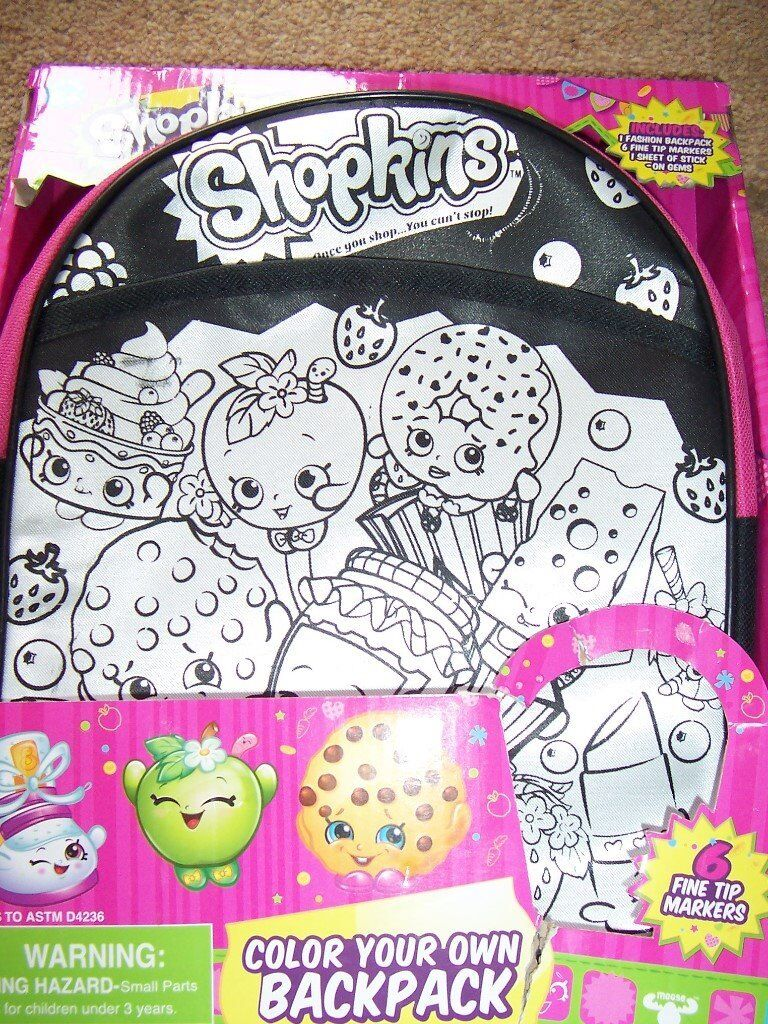 Shopkins Colour Your Own Backpack In East Calder West Lothian Gumtree