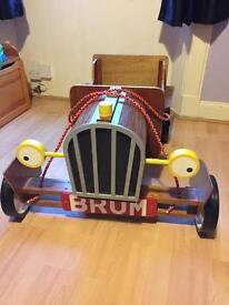 "Handmade Wooden ""Brum"" Pull Along Cart"
