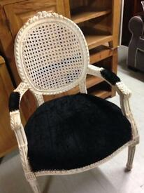 Cream and black chair £140