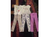 Girls bundle 3 Next skinny jeans and 2 tops age 7 fab condition