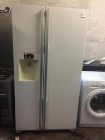 American Daewoo fridge freezer White