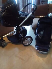 Qunniy pushchair with carry cot