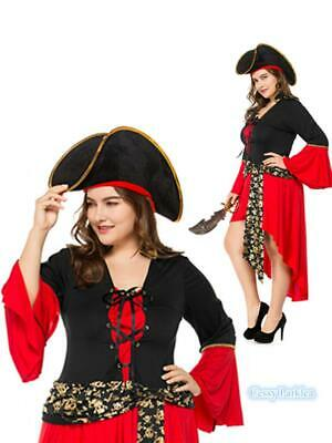 H2 Plus Size Lady's Pirates of Carribean Wench Swashbuckler Storybook Costume