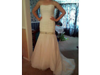 Eternity Bride size 12 drop waist corset fasten gown £200 open to offers
