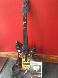 Wii game Guitar hero 5 and guitar
