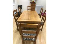 First come first served - Beautiful Solid Wood Dining Table & 6 Chairs