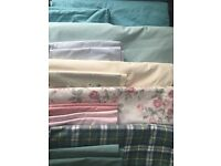5 x double bed duvet covers with pillow cases