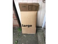 Large cardboard removal boxes for reuse