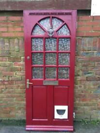 Door with letter box and cat flap, £25.00, size 31.3/4 x 78 inches