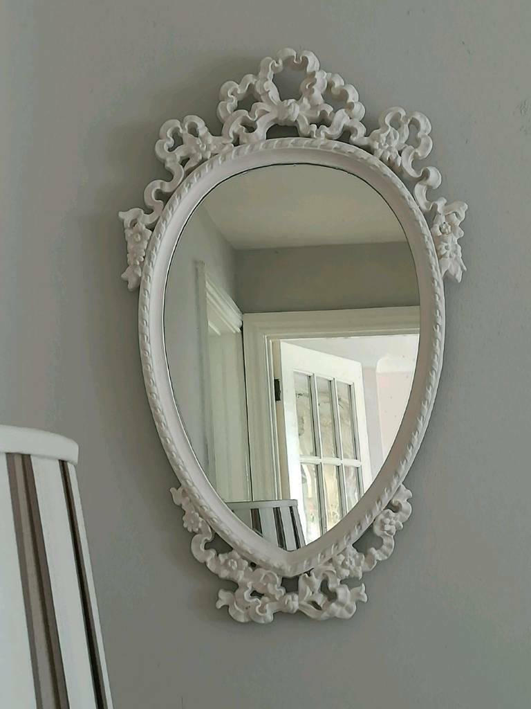 Pretty French Shabby Chic Mirror For Bedroom Dressing Room