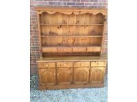 Solid pine Welsh dresser with spice drawers. Dovetail Joints. Possible delivery