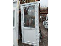 New UPVC Double Glazed White Door 900mm W x 2060mm H