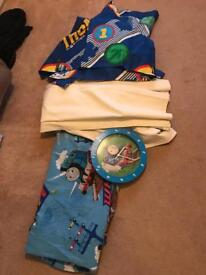 Thomas the tank engine lined Curtains clock duvet set and lampshade bargain !
