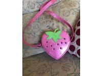Girls strawberry handbag like new