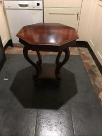 Octagon shaped table