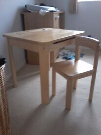John Lewis childrens desk and chair