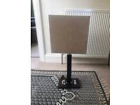 Wooden table lamp with mirror bottom