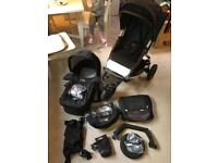 Mountain Buggy Swift plus Carrycot with lots of official MB Swift accessories