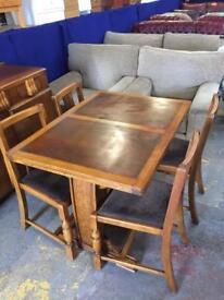Draw leaf table & sideboard