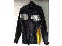 Motorcycle rain jacket, trousers and boot covers - size L