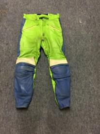 Men's Fieldsheer leather motorcycle trousers