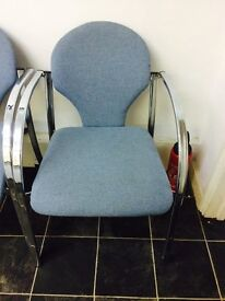 OFFICE VISITOR CHORME FRAME CHAIRS FOR SALE