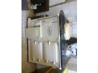 Aga cooker, good condition, gas fired plus parts to convert back to coal, with Aga accessories.