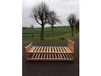 Two-in-One Pair of Single Beds - Light Beech Frames