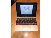 -- Apple Gold MacBook -- Apple Care Warrantee --
