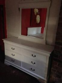 White chest of drawers 6, £300