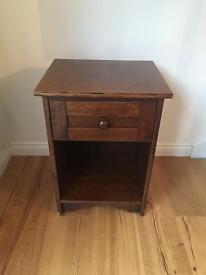 Solid Oak Side Table/Bedside Table