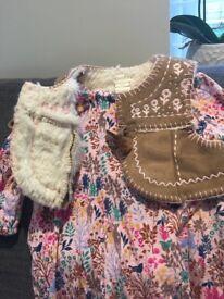 Moonson baby dress winter