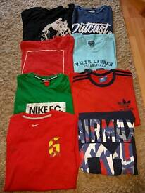 Mens tshirts size medium and large