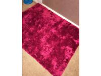 Berry pink shaggy Rug